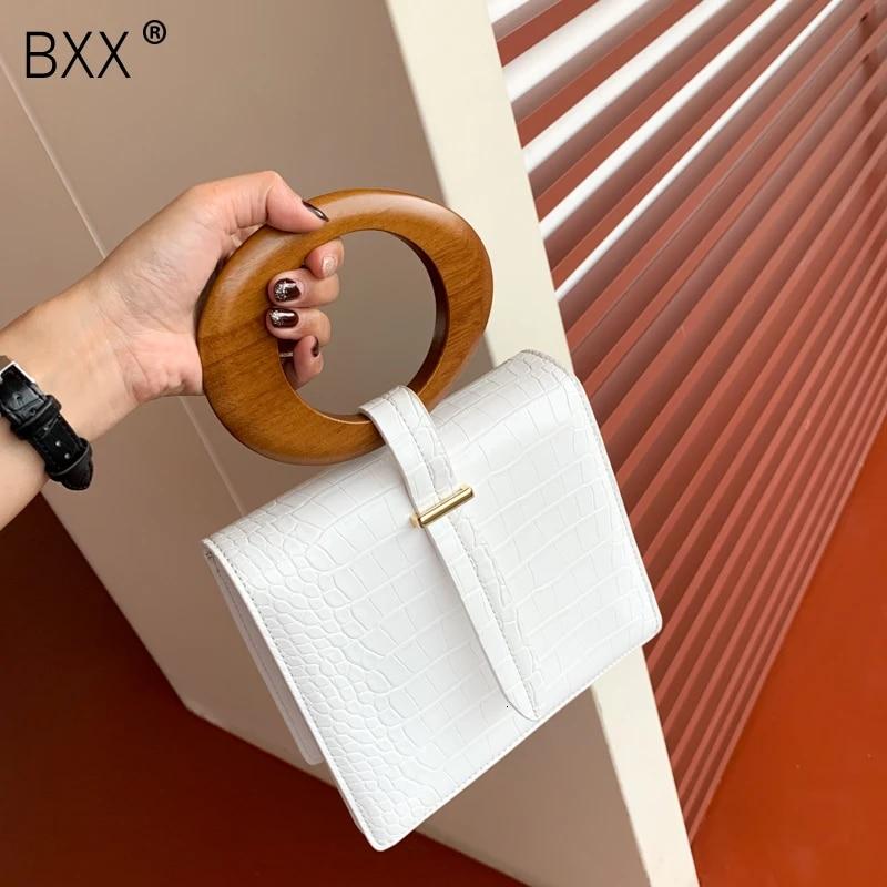 [BXX] 2020 Высококачественная Роскошная весенне-летняя модная новая темпераментная сумка с круглым клапаном с деревянной ручкой Женская универсальная сумка LM601