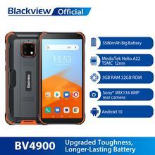 Blackview BV4900 Android 10 wytrzymały wodoodporny smartfon 3GB + 32GB IP68 telefon komórkowy 5580mAh 5 7 calowy telefon komórkowy NFC tanie tanio Nie odpinany CN (pochodzenie) Rozpoznawania twarzy Inne Nonsupport Smartfony Pojemnościowy ekran Angielski Rosyjski Niemiecki