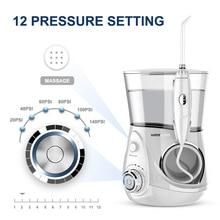 Waterpulse V660 12 ciśnieniowa ustna nić dentystyczna irygator V660 woda Pick z 5 dyszami higiena jamy ustnej narzędzia nawadnianie ustne