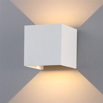 LED Indoor Lighting Wall Lamp & Outdoor Waterproof IP65 Porch Garden Wall Lamp 6W/12W AC 85-265V For Bath Corridor NR-122 cob led indoor lighting wall lamp modern home lighting decoration sconce aluminum lamp 6w 85 265v for bath corridor