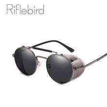 vintage round punk sunglasses men women shades steampunk sun glasses