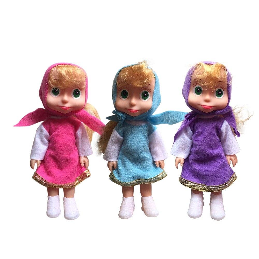 2019 Russian Masha Dolls Stuffed Toys Popular Birthday Gifts Bear For Kids Cute Masha Girls Toy