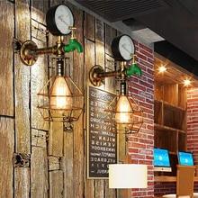 Luz de pared de tubos Retro, accesorios de iluminación de contador de agua decorativo, lámpara de pared vintage retro para dormitorio escalera café pasillo