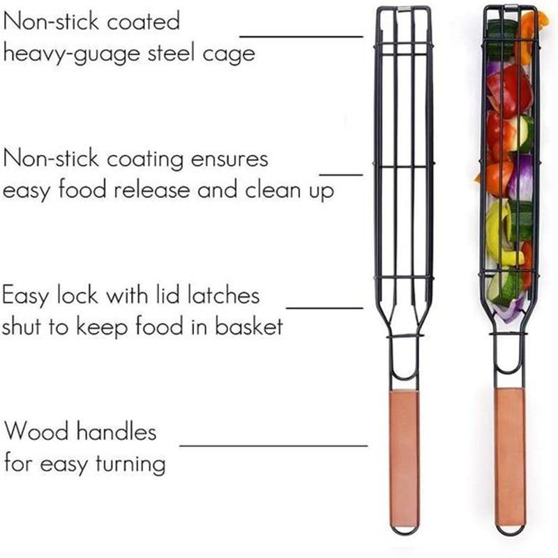 Non-stick-Barbecue-BasketsNet-Foldable-BBQ-Grilling-Portable-BBQ-Basket-Net-Fish-Meat-Hamburg-Net-Ca (4)