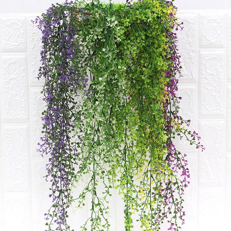 Artificial Rattan Wicker Green Plant Wall Decoration Artificial Flower Vine Plastic Flower Green Landscape Plant Wall Decoration