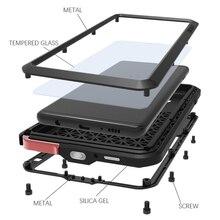 Cassa del Metallo amore Mei Per Samsung Galaxy S10 Più Copertura Del Telefono Shockproof Per Samsung Galaxy S10E S10 5G Coque robusta Armatura Fundas