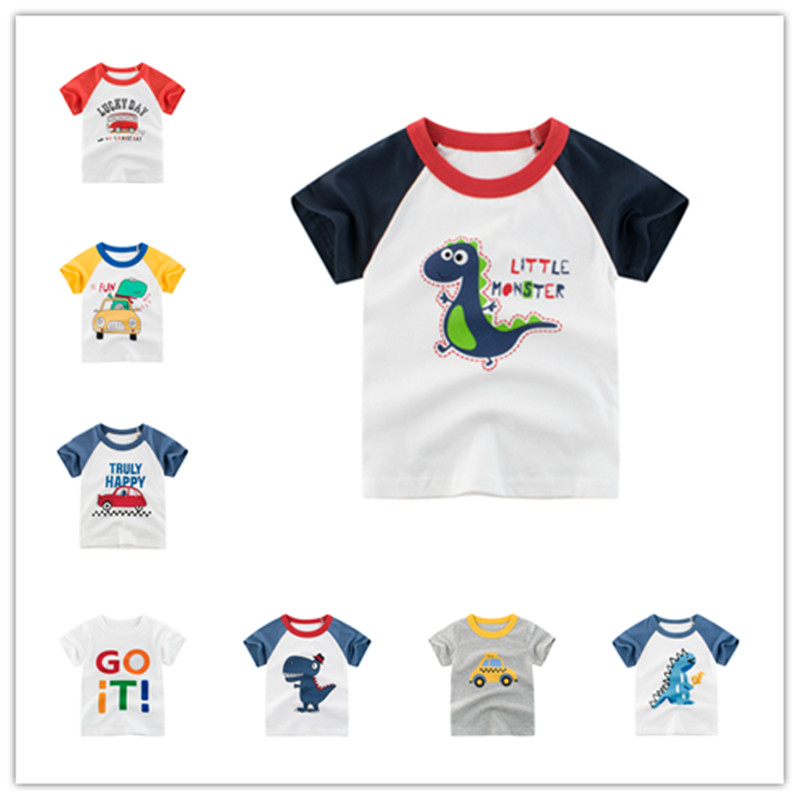 VIDMID Boys t-shirts Cars Short Sleeve T-shirt Kid baby Boys Casual Sport tees Children Summer Dinosaur tops Clothing 4037 05 1