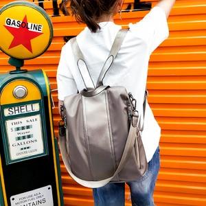 Image 5 - Multifuncional mochila feminina oxford à prova dsmall água bagpack feminino pequeno backpak adolescente meninas bookbag mochila antirrobo sac a dos
