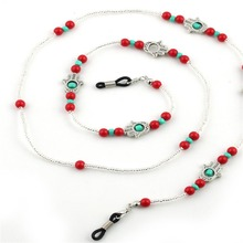 Trendy Womens Beaded Chain Sunglasses Chains Necklace Reading Glasses Cord Holder Neck Strap Rope for Eyewear