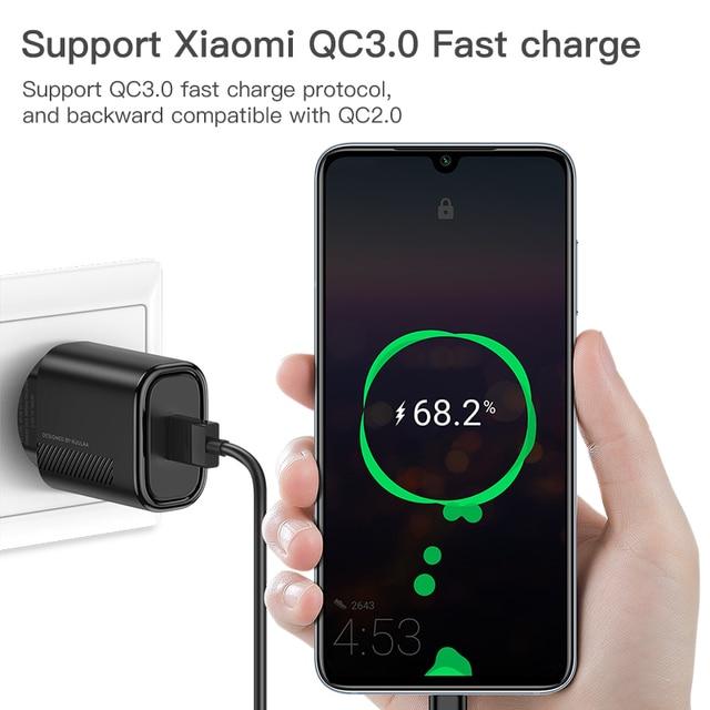 KUULAA Carica Rapida 3.0 di CONTROLLO di QUALITÀ 18W Caricatore USB Per Xiaomi Redmi Nota 9 8 7 QC3.0 Veloce di Ricarica USB della parete Del Caricatore Del Telefono Per Samsung 4