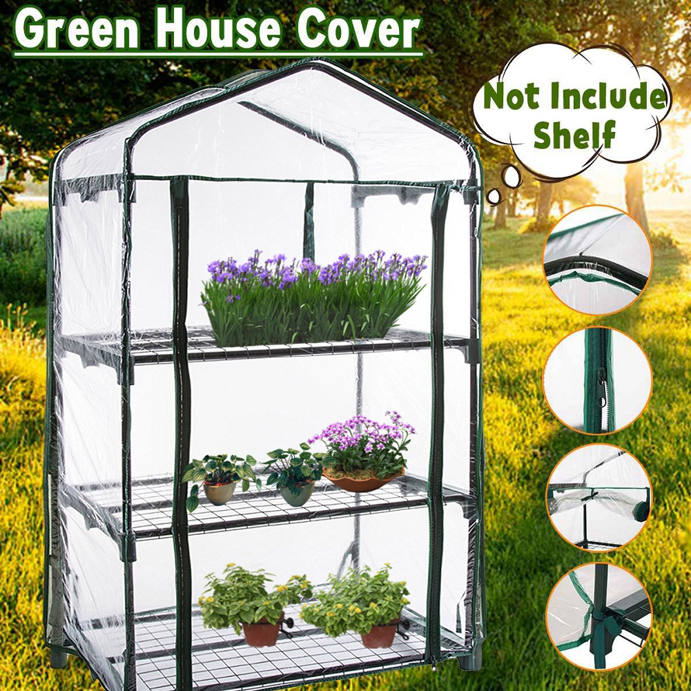 Three Floors Green Household Plant Greenhouse Mini Garden Warm Room PVC Garden Warm Room 126x69x49CM