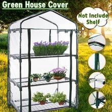 Three Floors Green Household Plant Greenhouse Mini Garden Warm Room PVC Garden Warm Room 126x69x49CM