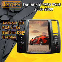 For Infiniti FX35/FX45 2003 - 2009 Car multimedia player Radio Stereo Tesla Screen Android PX6 Radio GPS autoradio Head unit