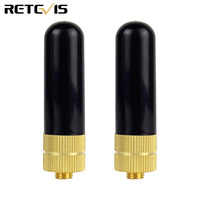 888s retevis h777 rt 2pcs Retevis RT-805S UHF + VHF אנטנה SMA-F עבור Kenwood Baofeng UV-5R BF-888S Retevis H777 RT-5R 2 Way רדיו מכשיר הקשר C9022A (1)