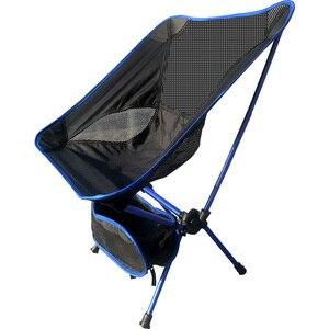 Image 1 - 휴대용 가벼운 무게 접는 캠핑 의자 의자 좌석 낚시 축제 피크닉 바베큐 비치 가방 오렌지 블루 레드 스카이 블루