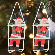 Toys Decoration Christmas-Gifts Santa-Claus Ornament Doll New-Year for Kids 1pc Climbing-A-Ladder