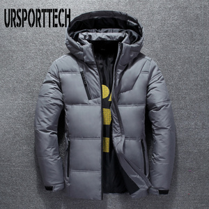 Image 4 - 2019 New High Quality White Duck Thick Down Jacket Men Coat Snow Parkas Male Warm Brand Clothing Winter Down Jacket Outerwear