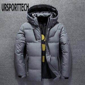 Image 4 - 2019 새로운 고품질 흰색 오리 두꺼운 자켓 남성 코트 스노우 파커 남성 따뜻한 브랜드 의류 겨울 자켓 겉옷