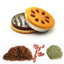 Grinder-Crusher Herbs Metal 55mm Home Biscuit for Men Flowers Dried Gift Cookie-Shape