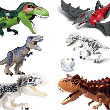 Jurassic World Tyrannosaurus Rex Compatible With Block Building Blocks Jurassic Dinosaur Figures Bricks Toys Collection Toy jurassic world dinosaur heavy claw pluto dragon tyrannosaurus rex indominus dilophosaurus building blocks bricks toys for kids