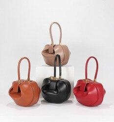 Genuino sacchetto di cuoio delle donne Europee e Americane borsa di disegno di nicchia Wonton gnocco borsa