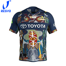 RESYO FOR North Queensland Cowboys 2019 Men's Replica Indigenous Jersey Rugby Jersey Sport Shirt S-3XL
