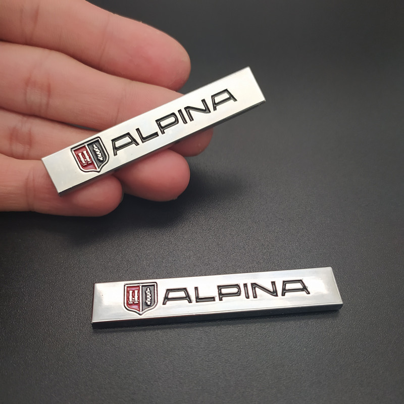 Car-Styling 3D Metal ALPINA <font><b>Emblem</b></font> Trunk Rear <font><b>Stickers</b></font> Badge For <font><b>BMW</b></font> ALPINA <font><b>Logo</b></font> E46 E39 E90 E60 E36 F30 X1 X3 X5 E53 <font><b>F10</b></font> E34 image