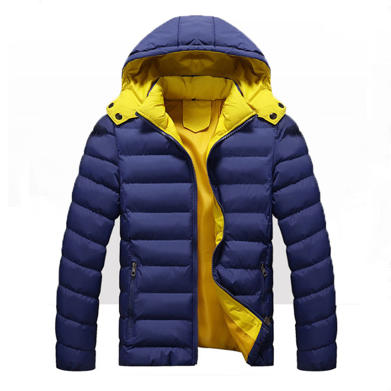 Winter New Men's Thickened Removable Hooded Cap Men's Solid Thick  Warm  Casual Men's Jackets Windproof  Winter Parkas