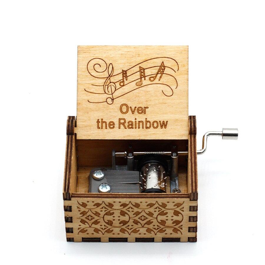 Где-то над радугой-музыкальная шкатулка Колыбельная деревянная лазерная фотография подарок на день рождения женский родитель