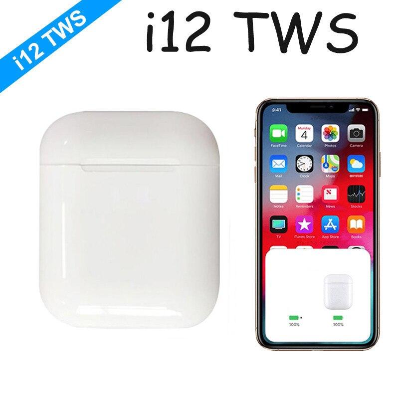 2019 i12 i 12 tws mini bluetooth sem fio esporte fones de ouvido controle toque com caixa carregamento esporte não i10 i30 i60