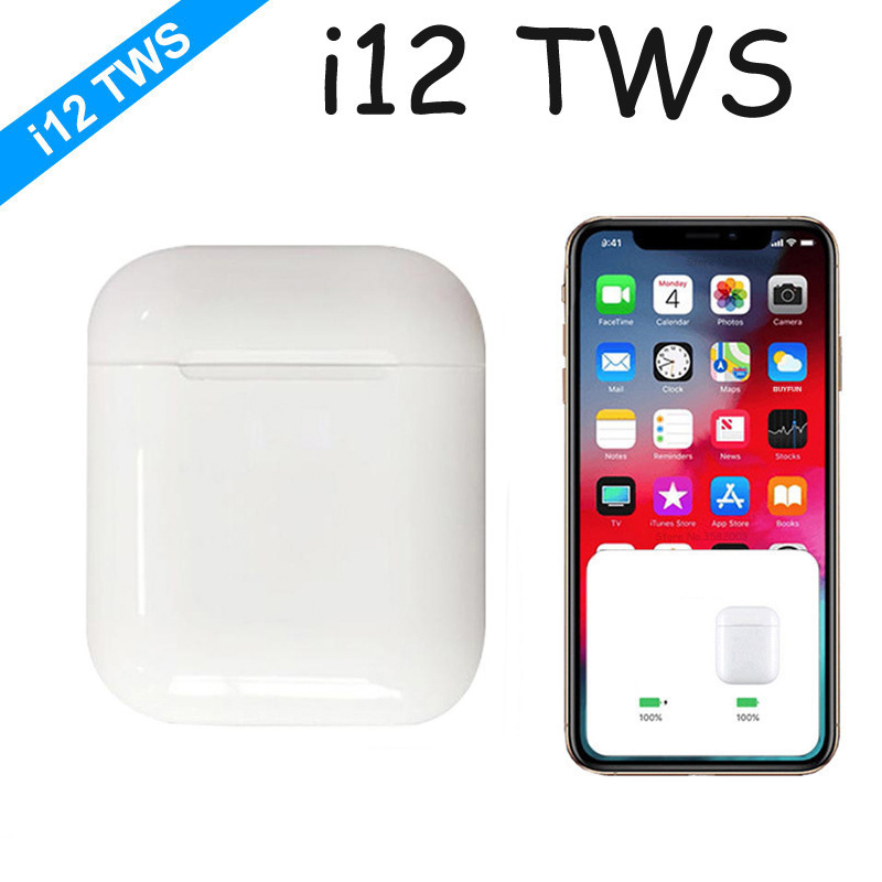 2019 i12 eu 12 TWS Mini Bluetooth Sem Fio Fones de Ouvido Fones De Ouvido Fones de Ouvido controle de Toque Com Caixa de Carga Esporte pk tws i10 i30 i60