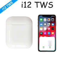 2019 i12 ich 12 TWS Mini Bluetooth Wireless-Sport Kopfhörer Touch control Ohrhörer Mit Lade Box Sport Headsets Nicht i10 i30 i60