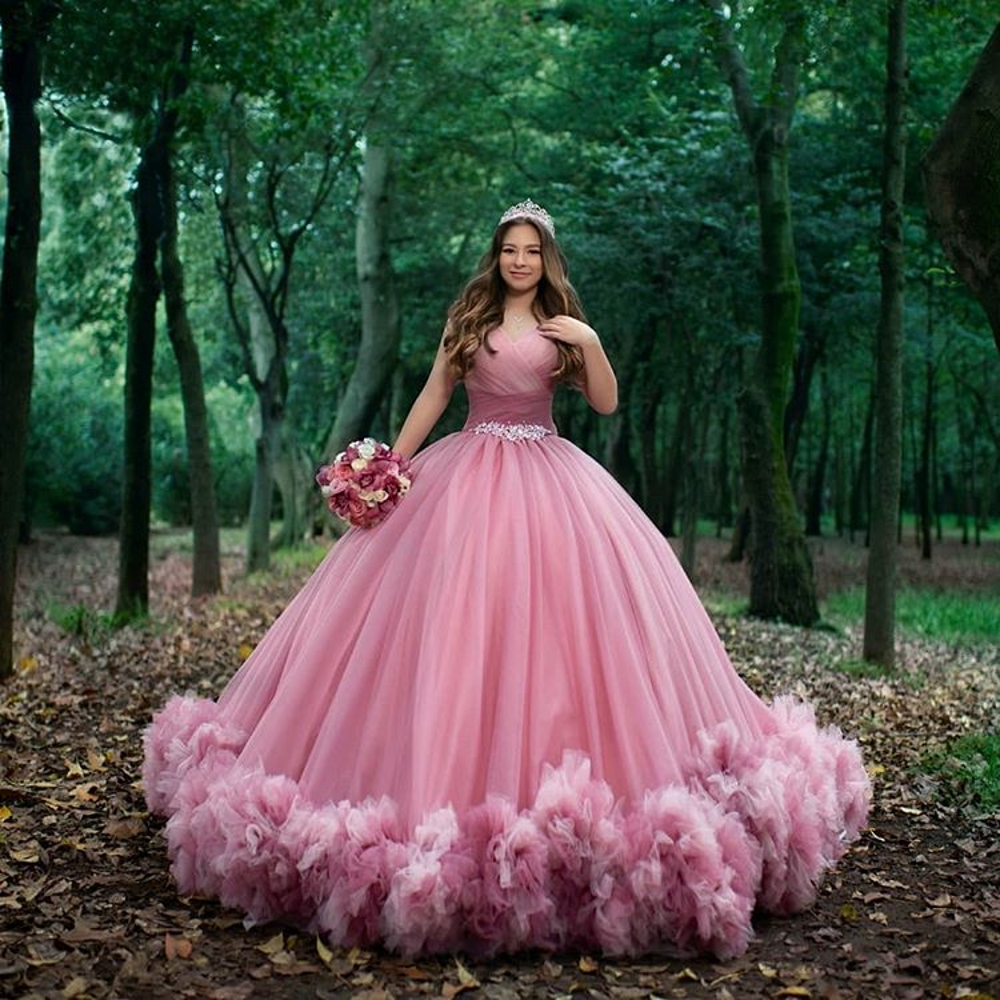 Sweet 16 Pink Quinceanera Dresses Off Shoulder Ruched Ball Gown Sweet 15 Prom Dresses Vestido De 15 Anos Quinceanera فساتين