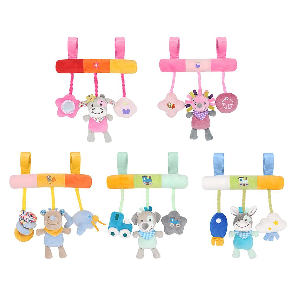 5 Styles Lovely Stroller Car Seat Toy Pendant Kids Baby Bed Crib Cot Pram Hanging Giraffe Toy Pendant With Ringing Bell