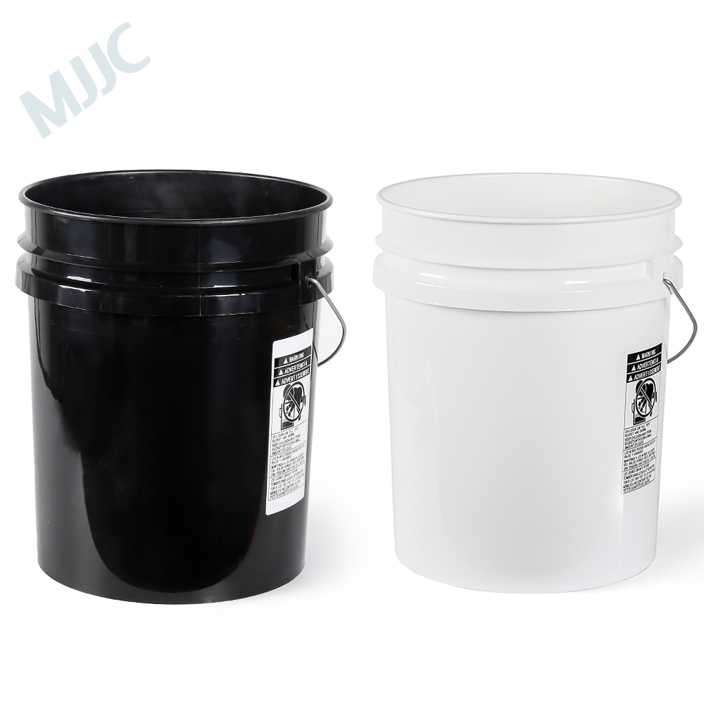 MJJC Brand With High Quality Dual Bucket Two Bucket Washing Kit Each Bucket 5 Gallon(20L) One Black And One White