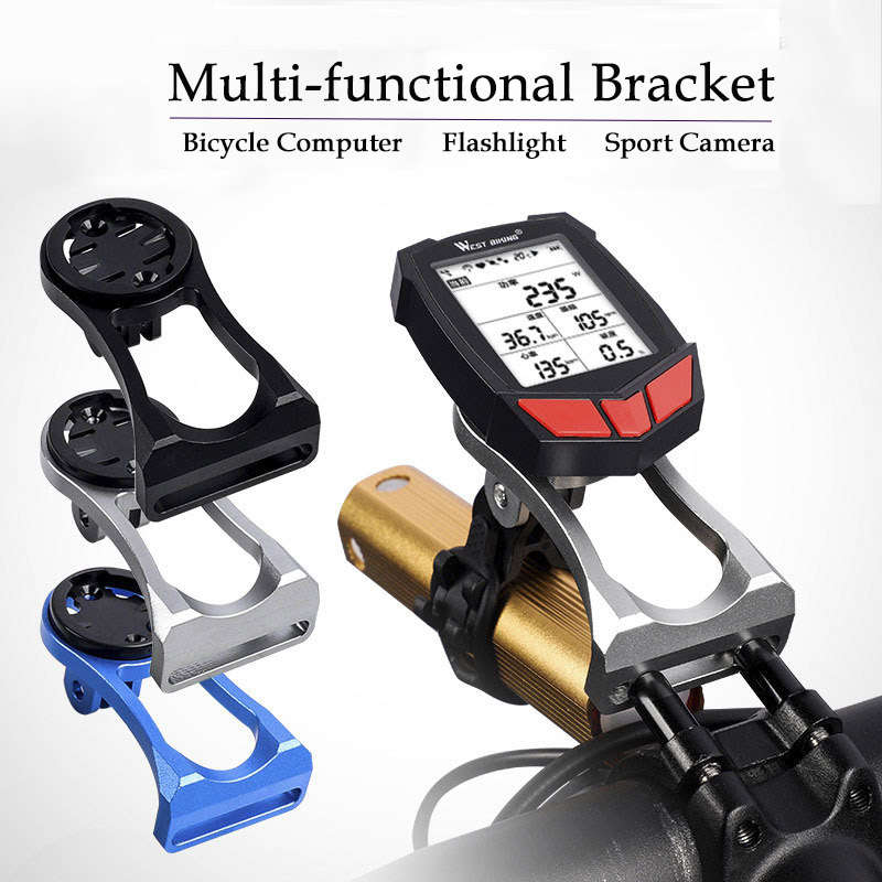 MTB Road Bike Mileometer Camera Holder Handlebar Extension Bicycle Stopwatch GPS Cellphone holder