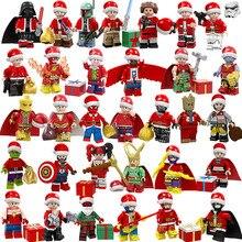 Мститель супер герой звездные войны Рождественская версия мини игрушка фигура строительный блок кирпич совместим с Lego подарок на год для детей