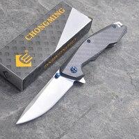 200MM Folding Knife Camping Folding Pocket Knife 8Cr13MoV Steel Titanium Outdoor Survival EDC Tool kitchen knife SDIYABEIZ|Knives| |  -