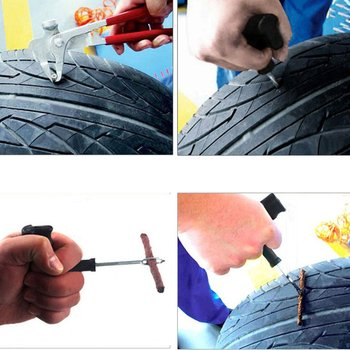 Car Tire Fast Tire Repair Tool Auto Car Repair Tool Set Combination Hex Socket Tools Kit Screwdriver Emergency image