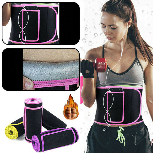 NEOPRENE STOMACH SLIMMING EXERCISE SWEAT BELT FAT BURNER WAIST SAUNA BODY SHAPER 2