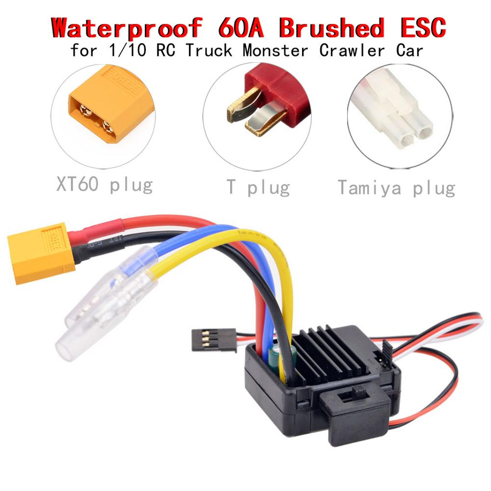 45A Esc Speed Controller für 1:10 RC Car Buggy Truck 540 Brushed Motor