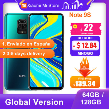 Global Version Xiaomi Redmi Note 9S 4GB 64GB/ 6GB 128GB Smartphone Snapdragon 720G 48MP Camera 6.67'' 5020mAh 18W Charge