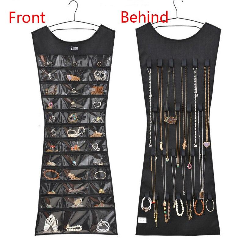 39 Pocket 24 Hang Loop Storage Bag Jewelry Organizer Earrings Ring Bracelet Necklace Holder Jewelry Display Organizador De Joyas
