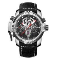 Riff Tiger/RT Top Marke Luxus Berühmte Männliche Uhr Automatische Mechanische Edelstahl Wasserdichte Leder Relogio Masculino RGA3591
