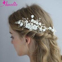 Amelie свадебный головной убор аксессуары для волос обруч для волос со стразами диадемы свадебные волосы лоза гребень зажимы ювелирные изделия для женщин
