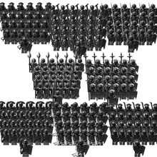 Ortaçağ aksiyon figürleri güçlü siyah orc mini askerler ortaçağ şövalye blokları hediyeler çocuk oyuncakları için