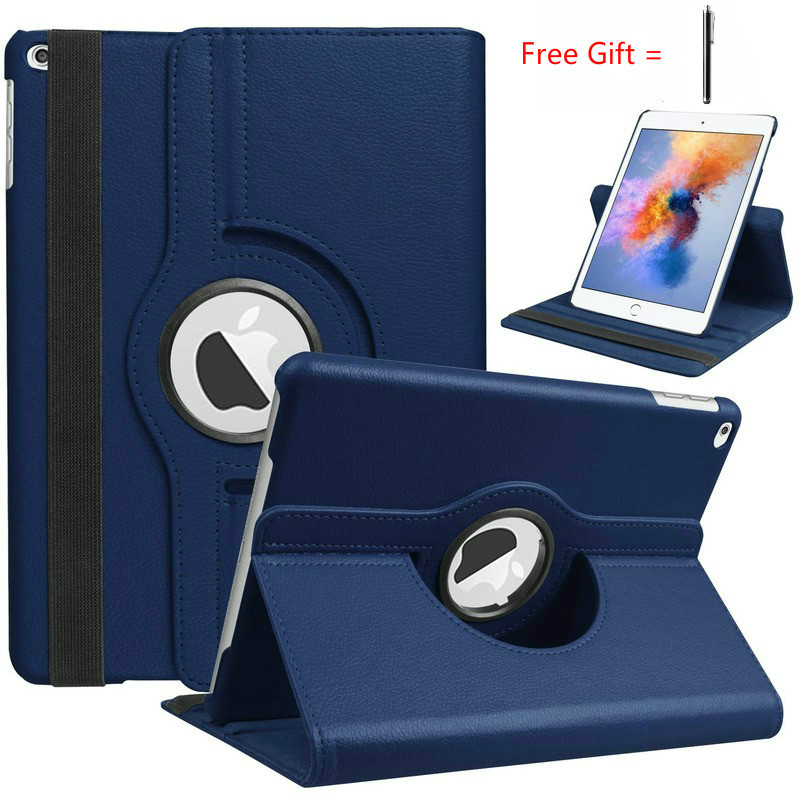 360 Degree Rotating Leather Smart Cover for iPad Air 2 Air for iPad 9.7 2018 2017 Adjustable