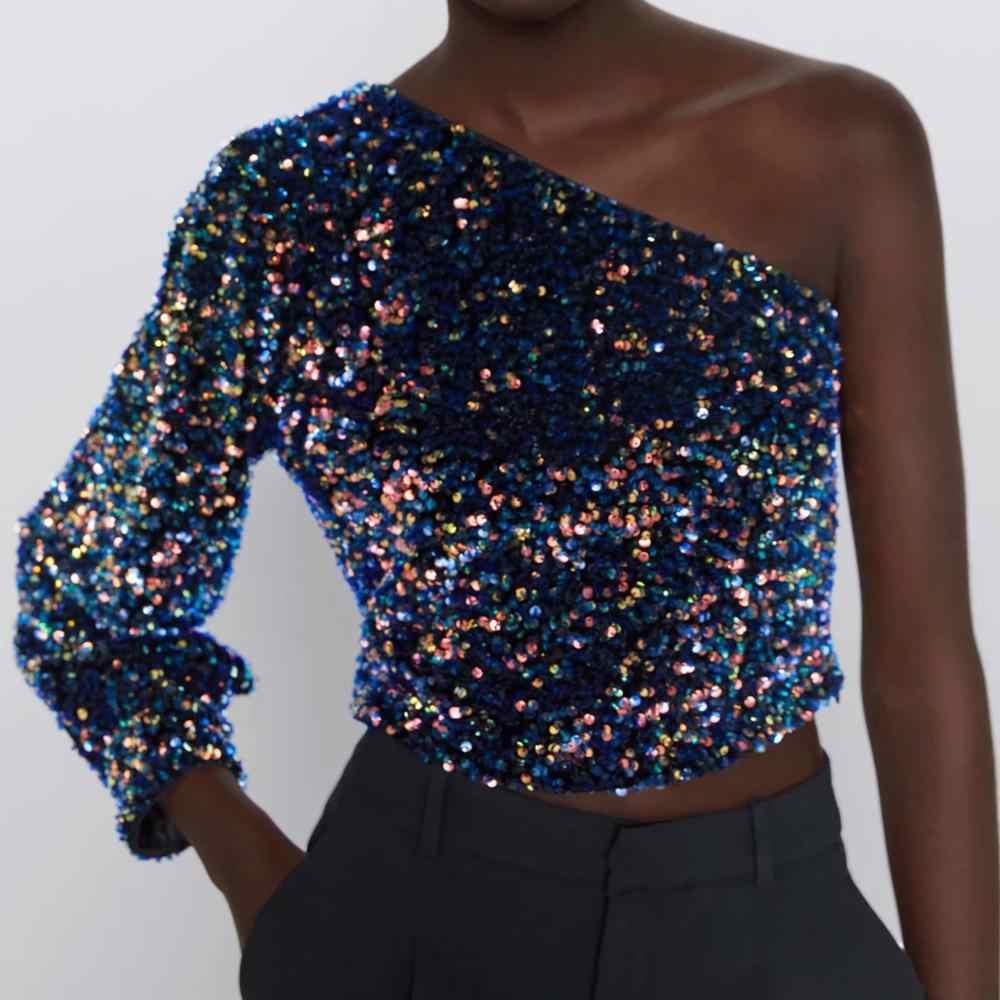 color s/ólido Camiseta de manga corta para mujer para mujer Janly Impreso Tops con hombros descubiertos informal con bolsillo superior para mujer