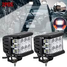 Lampe stroboscopique LED de haute qualité, 4 pouces, 90 W, tir latéral, feux de travail, anti-brouillard, ATV, SUV, camion