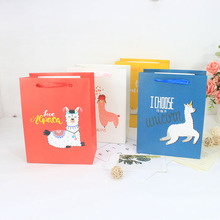 12pcs Alpaca candy paper packaging Gift Bag Birthday party supplies Chocolate коробка пакет Bags with Handles упако